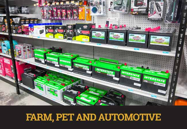 farm, pet and automotive